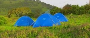 Campamamento en las montañas de Simien en Etiopía.