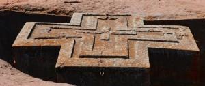 Iglesia de San Jorge en Lalibela en el norte de Etiopía.