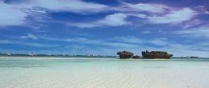 Playa de Watamu frente al hotel Medina Palms en Mombasa en el área de Watamu..