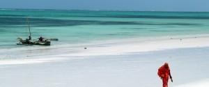 Una de las tantas preciosas playas de Zanzíbar en Tanzania.