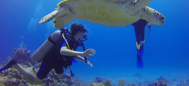 Practicar buceo en viajes de aventura