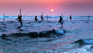 Pescadores en Galle