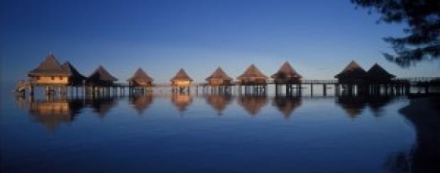 Bungalows en la Polinesia