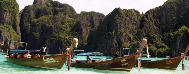 Barcas en Tailandia