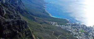 Fotografía tomada desde la Table Mountain en Ciudad del Cabo, Sudáfrica
