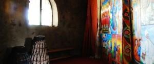 Interior de un monasterio en Etiopía.