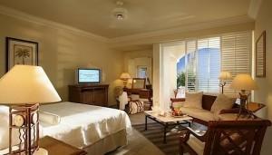 habitación Colonial vista mar del hotel The Residence Mauritius.
