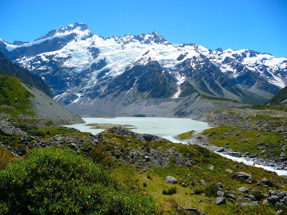 En un viaje por Nueva Zelanda, Mount Cook es parada obligada