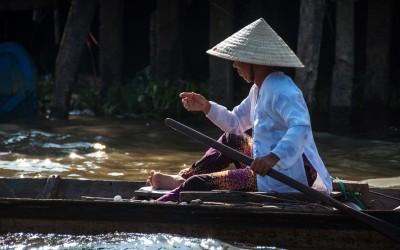 Barca en Vietnam