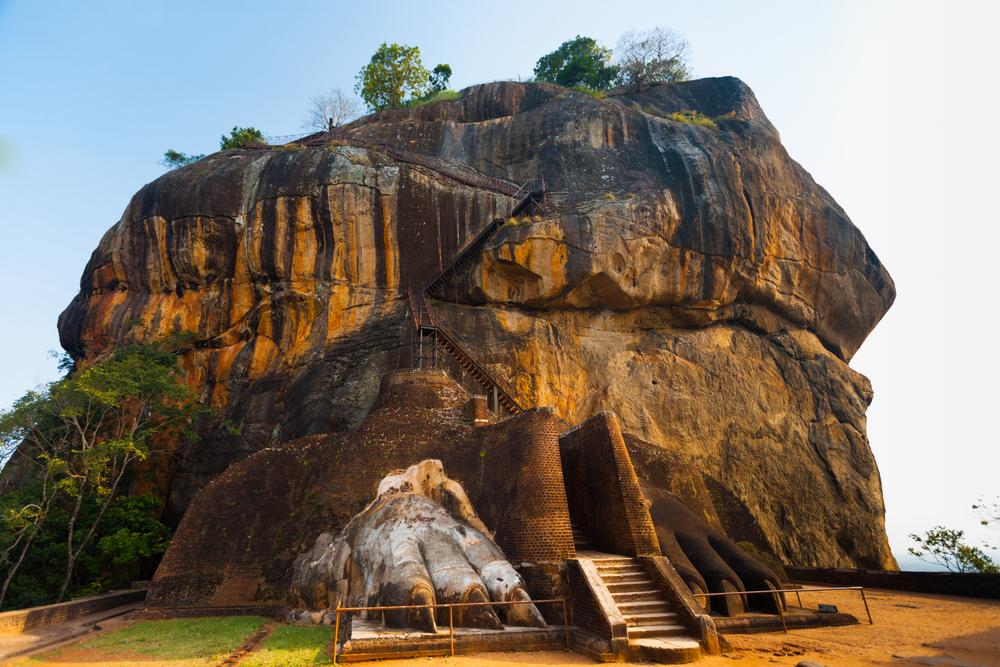 Vista del monasterio de Sigiriya